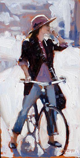 Morning ride #bike #bicyclepainting