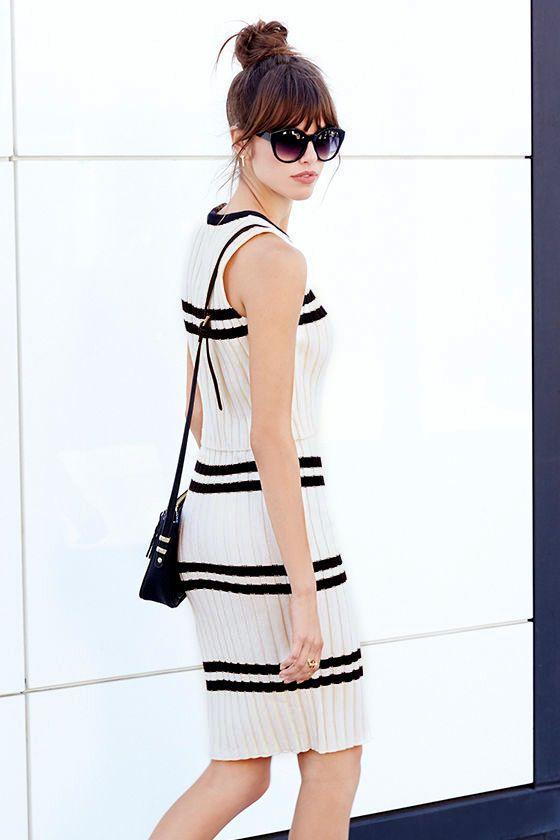 Prep School Black and Cream Two-Piece Dress at Lulus.com!