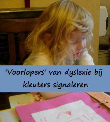 """""""Voorlopers"""" van dyslexie bij kleuters signaleren."""