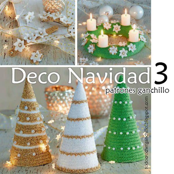 decoraciones crochet para navidad
