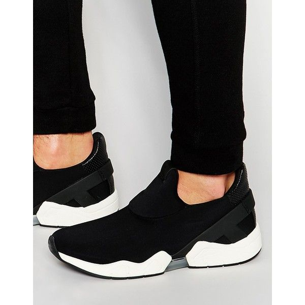 ALDO Genovese Sneakers ($105) ❤ liked on Polyvore featuring men's fashion, men's shoes, men's sneakers, black, mens black slip on shoes, mens slip on sneakers, aldo mens sneakers, mens black slip on sneakers and mens slip on tennis shoes