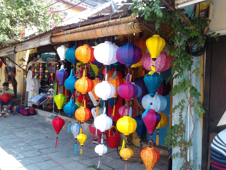 Beautiful lamps in Vietnam, bought one for our Bed and Breakfast