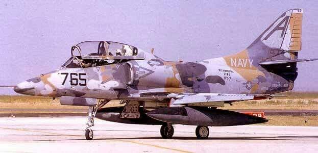 Good looker, or ugly? A4 McDonald Douglass Skyhawk aircraft