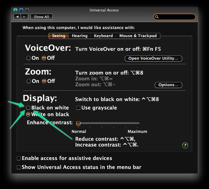 How to Invert Colors on a Mac -- via wikiHow.com