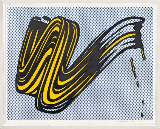 """Roy Lichtenstein, """"Brushstroke"""", 1965  http://www.kunsthaus-artes.de/de/778421.R1/Bild-Brushstroke-1965/778421.R1.html#q=lichtenstein&start=1"""