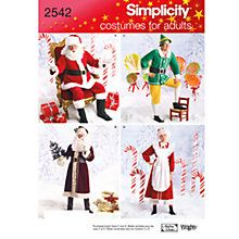 Buy Simplicity Christmas Costume Sewing Pattern, 2542 Online at johnlewis.com