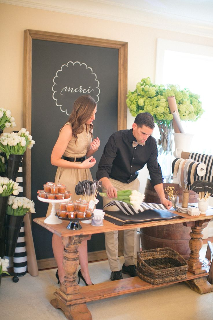 cutest parisian party!!  http://www.stylemepretty.com/living/2014/04/07/black-and-white-party-2/