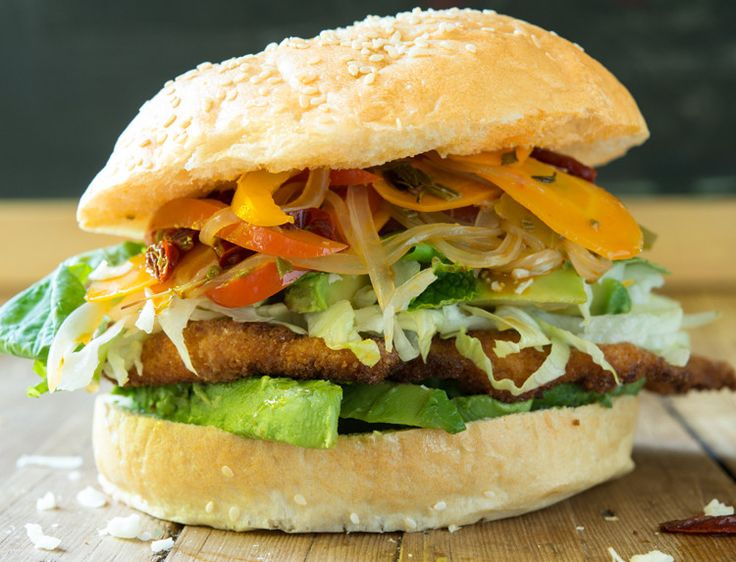 Cemita Milanesa de Pollo is the sandwich sold—by almost every vendor—at the Mercado in Puebla for breakfast, lunch, dinner and late night