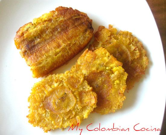Patacones Aliñados Colombia, cocina, receta, recipe, colombian, comida.