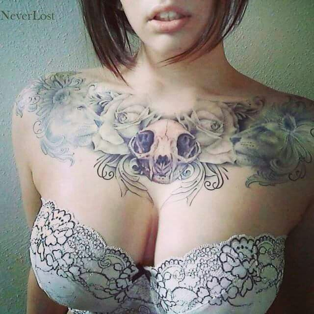 Awesome chest piece love the details of the roses and flowers