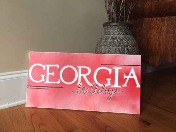 Georgia Bulldogs by ArtZByEwald on Etsy. 1000  images about Ben s Bulldog bedroom on Pinterest   Georgia