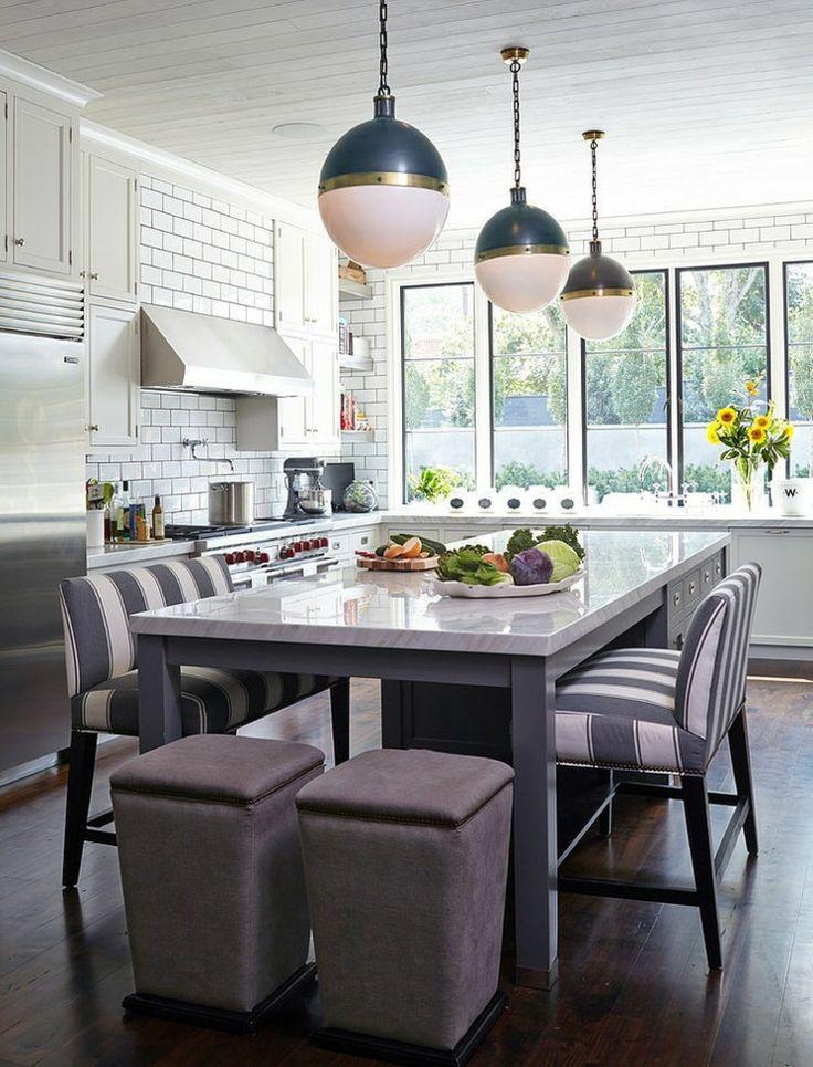 lilot central de cuisine qui tient lieu de table pour les repas quotidiens - Ilot Central Table Cuisine