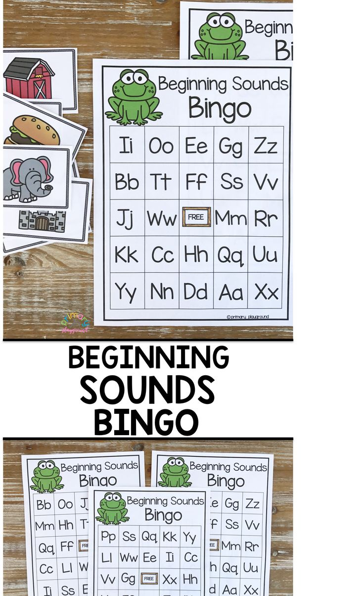 Beginning Sounds Letter Bingo Let's learn to read