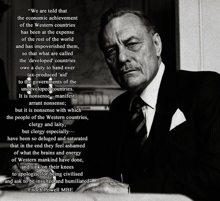 enoch powell s controversial speech John enoch powell, mbe was a british politician, classical scholar, philologist, and poet he served as a conservative member of parliament (mp, 1950–74), ulster.