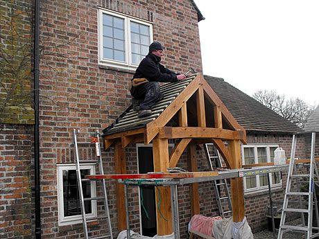 Tile Battens Attached Over Roofing Felt