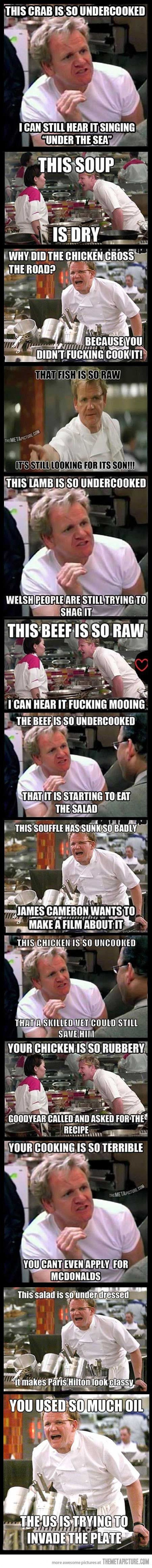 Angry Gordon, the best of Gordon Ramsey!!