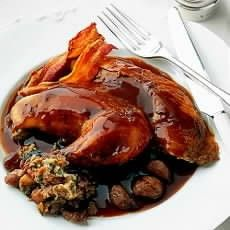 Roast Pheasants with Chestnut Stuffing and Port and Chestnut Sauce