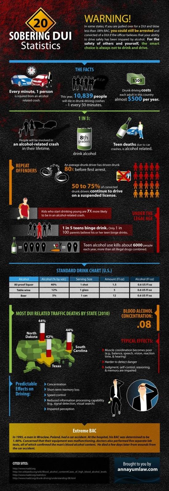 INFOGRAPHIC: 20 SOBERING DUI STATISTICS