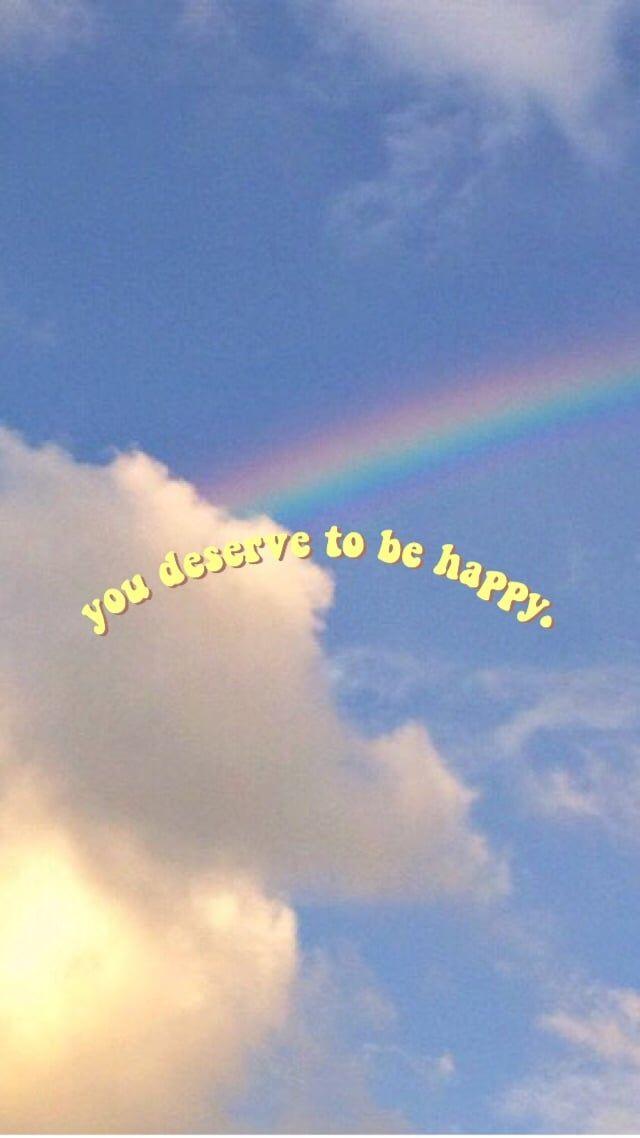 Aesthetic Rainbow Happiness Retro Tumblr Clouds Smile Https