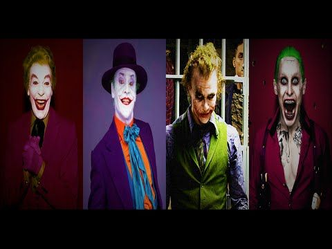 The Joker Actors: 1966, 1989, 2008, 2016 - YouTube