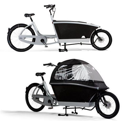 Urban Arrow's Electric Cargo Bike Has Modular Frame, Can Carry 400-Lbs Of Load!! this is what i have been talking about!!it drives me bonkers that your kid is behind you on the bike!!! you cant see them and i have this fear that it will come detached from the bike!! although i couldnt see myself riding this!! but neat idea!