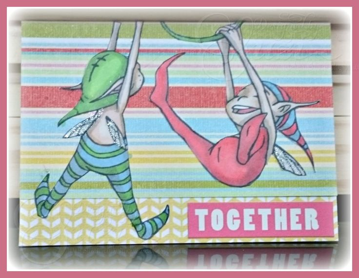 Wicked Wednesday ATC Challenge #183 - Lots of Stripes