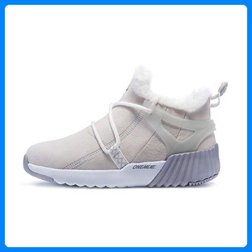 Onemix Damen Herren Warm gefütterte Kurzschaft Schnee Stiefel Sneaker Schwarze Boots Schuhe Winter - Sneakers für frauen (*Partner-Link)
