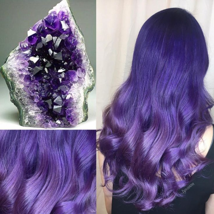 This Amethyst color melt is EVERYTHING! It's all about Geode Swirls with this look from @lysseon.