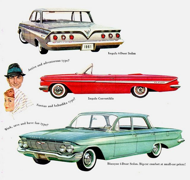 This is when I came to love automotive design. 1960 Chevrolet Impala. This is what I want, but blacked out like the Winchesters.