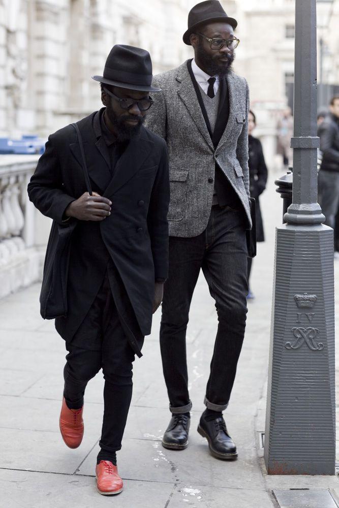 Urban Street Style, Shades of Grey, Men's Fall Winter Fashion.