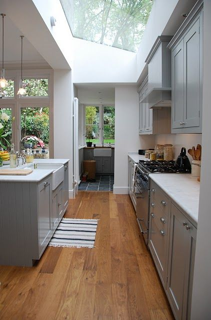 Gorgeous kitchen with attached laundry. practical + pretty.                                                                                                                                                                                 More
