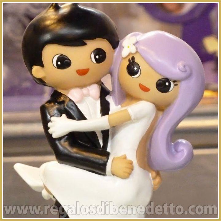 Pareja de #novios Hollywood. Figura para #Tarta de #Bodas • #Weddings #CakeTopper