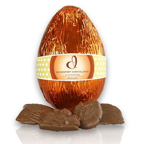Milk Chocolate Luxury Easter Egg. http://www.giftloft.co.nz/collections/easter-hampers-chocolate-easter-egg-gift-ideas/products/devonport-chocolates-luxury-surprise-easter-egg-1 #Devonport #chocolate
