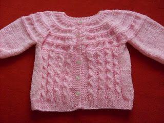 """Tejer: """"El arte de crear con tus manos"""".: Chaleco a palillo para bebe de 3 a 6 meses."""