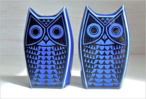 Owl salt and pepper shakers by John Clappison: Hornsea Ware, Hornsea Owl, Owl Obsession, John Clappison, Owl Cruet, Owl Barns, Features Owl, Hornsea Pottery, Owl Salts