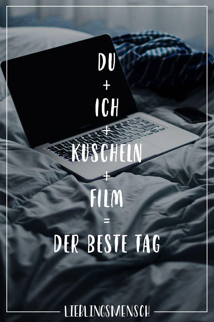 Visual Statements®️ Du+ich+kuscheln+Film= der beste Tag. Sprüche / Zitate / Quotes / Lieblingsmensch / Freundschaft / Beziehung / Liebe / Familie …