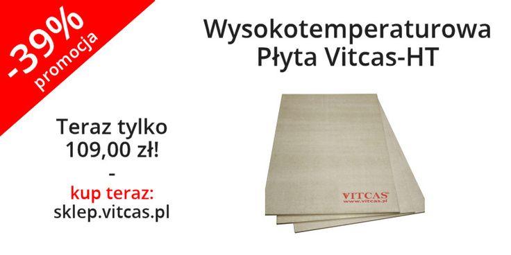 Wysokotemperaturowe płyty Vitcas HT są to niepalne, dekoracyjne płyty nie zawierające gipsu. Mogą być używane razem z Gładzią Szpachlową Żaroodporną Vitcas HRP wszędzie tam gdzie zastosowanie tynku ognioodpornego nie jest możliwe.  Teraz za 109 zł! Zapraszamy do naszego sklepu online: http://sklep.vitcas.pl/pl/p/Wysokotemperaturowa-Plyta-Vitcas-HT-alternatywa-dla-plyt-gipsowo-kartonowych-650-C/78