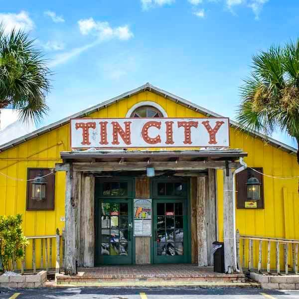 Tin City is a local Naples Restaurant and shopping attraction located right on the inlet canal.  We have friends who own a business in this area of town. We are praying Irma doesn't destroy it.