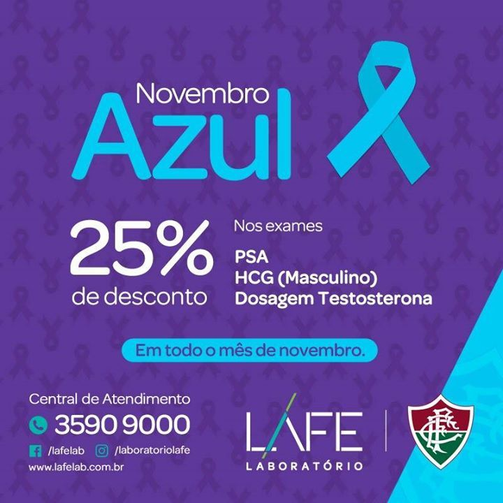 Aproveite a Campanha Novembro Azul  da LAFE e coloque seus exames em dia. Procure seu médico! #fashion #style #stylish #love #me #cute #photooftheday #nails #hair #beauty #beautiful #design #model #dress #shoes #heels #styles #outfit #purse #jewelry #shopping #glam #cheerfriends #bestfriends #cheer #friends #indianapolis #cheerleader #allstarcheer #cheercomp  #sale #shop #onlineshopping #dance #cheers #cheerislife #beautyproducts #hairgoals #pink #hotpink #sparkle #heart #hairspray…