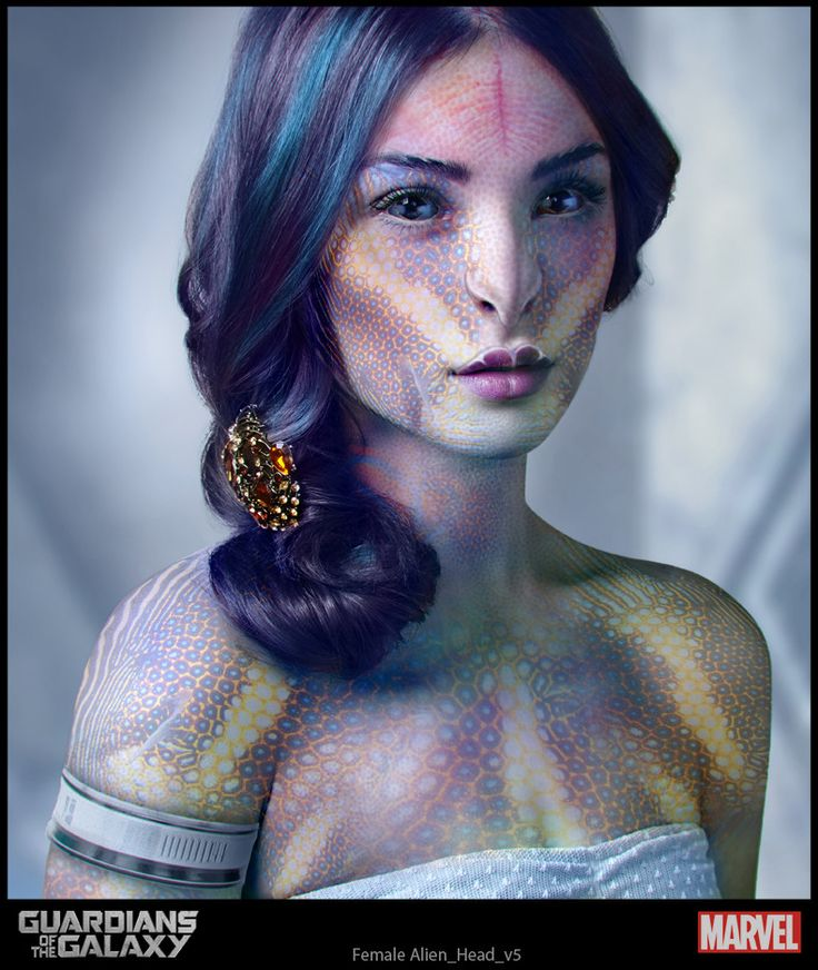 """Concept art for a female alien from 'Guardians of the Galaxy"""" (2014)."""