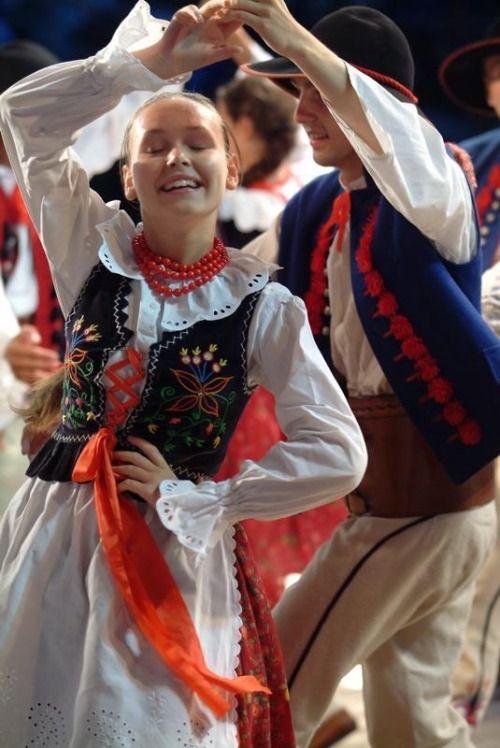 Folk costumes from Beskid Żywiecki, Poland.