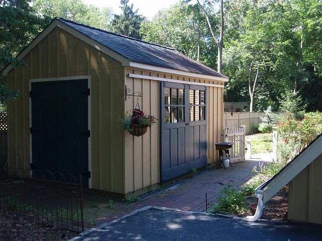 Shed with sliding barn doors adore for the home for Exterior shed doors design