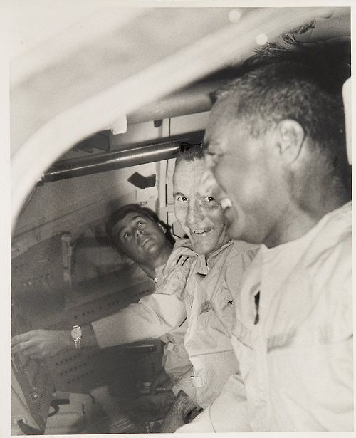 From left: Roger Chaffee, Ed White and Gus Grissom - Apollo 1