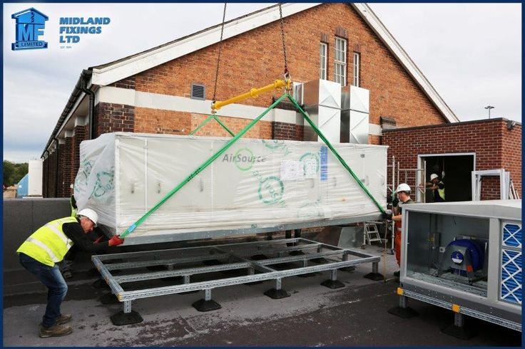 Midland Fixings - Another happy customer as their AHU units are lifted onto roof frames accommodating a 1° incline at Al-Madinah School.(@midlandfixings) | Twitter