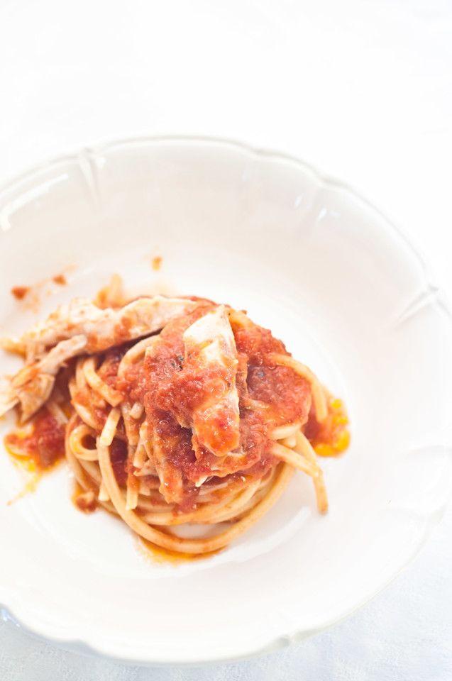 Spaghetti  con ragù di gallinella