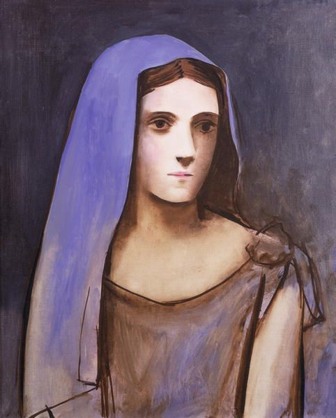 Pablo Picasso - A Woman in a Blue Veil (Portrait of Olga), 1924