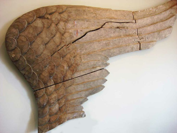 As much as I would love to have these, I'd also like to make them myself.  From Aix, France - Two hand-carved wooden angel wings from the 18th Century.  @ Doris Hart.  info@mewsantiques.com