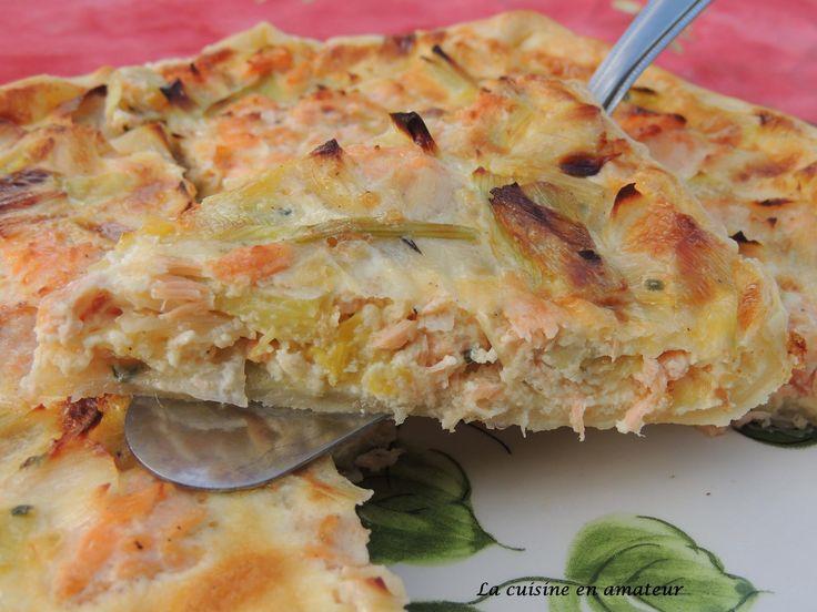 Tarte+aux+poireaux+et+saumon
