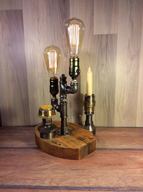 Edison Lamp Rustic Decor Unique Table Lamp Industrial Lighting