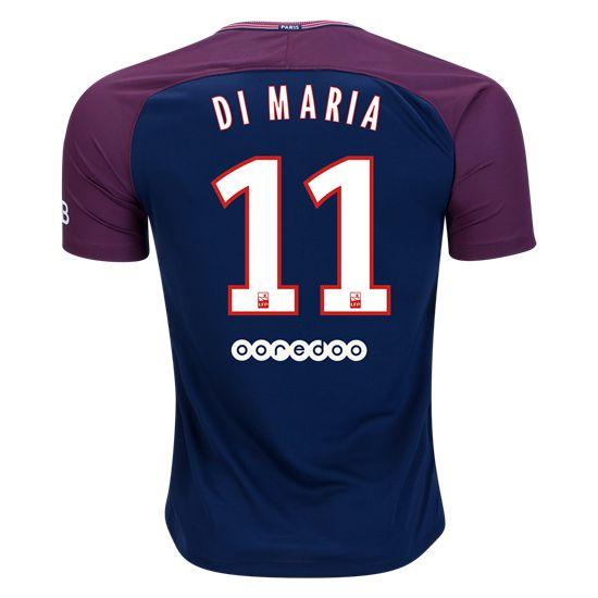 17/18 Nike Angel Di Maria #11 Paris Saint-Germain Home Jersey